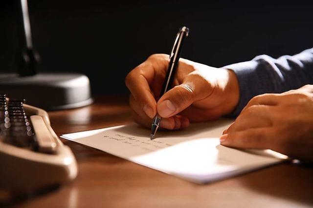 An wen einen Brief schreiben, der erst in 100 Jahren gelesen wird?