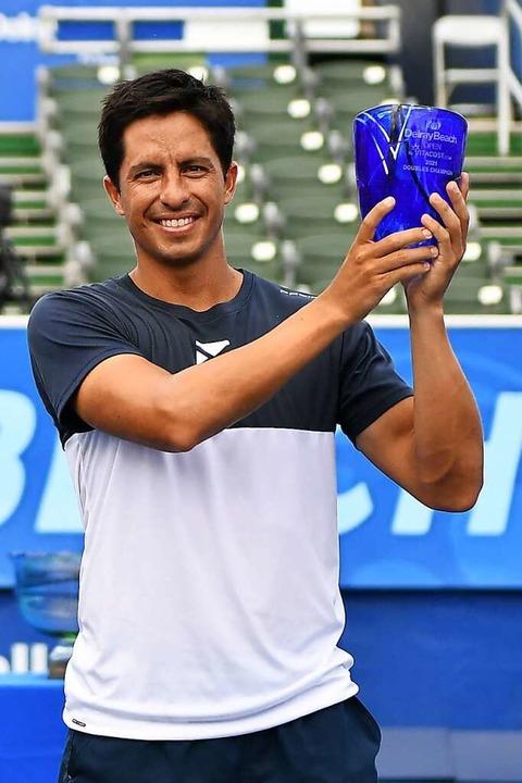Erster ATP-Erfolg: Gonzalo Escobar, TC...seinem Sieg im Doppel in Delray Beach.  | Foto: Mark Brown
