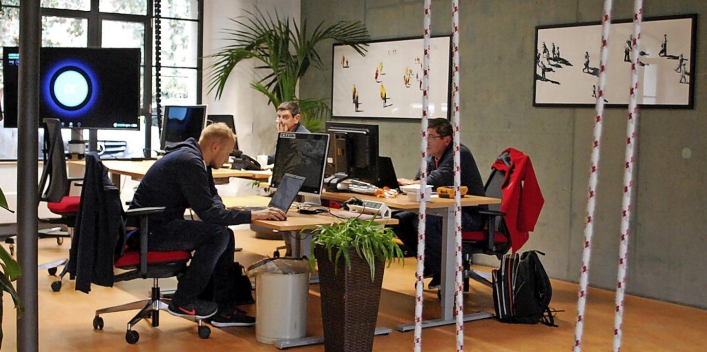 Co-Working-Angebote wie hier im Lörrac...l sollen auch auf dem Lande entstehen.  | Foto: Thomas Loisl Mink