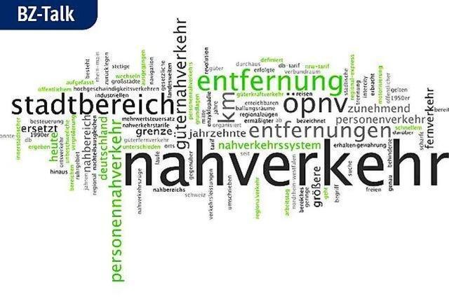 BZ-Talk über die umstrittenen Nahverkehrspläne um Freiburg