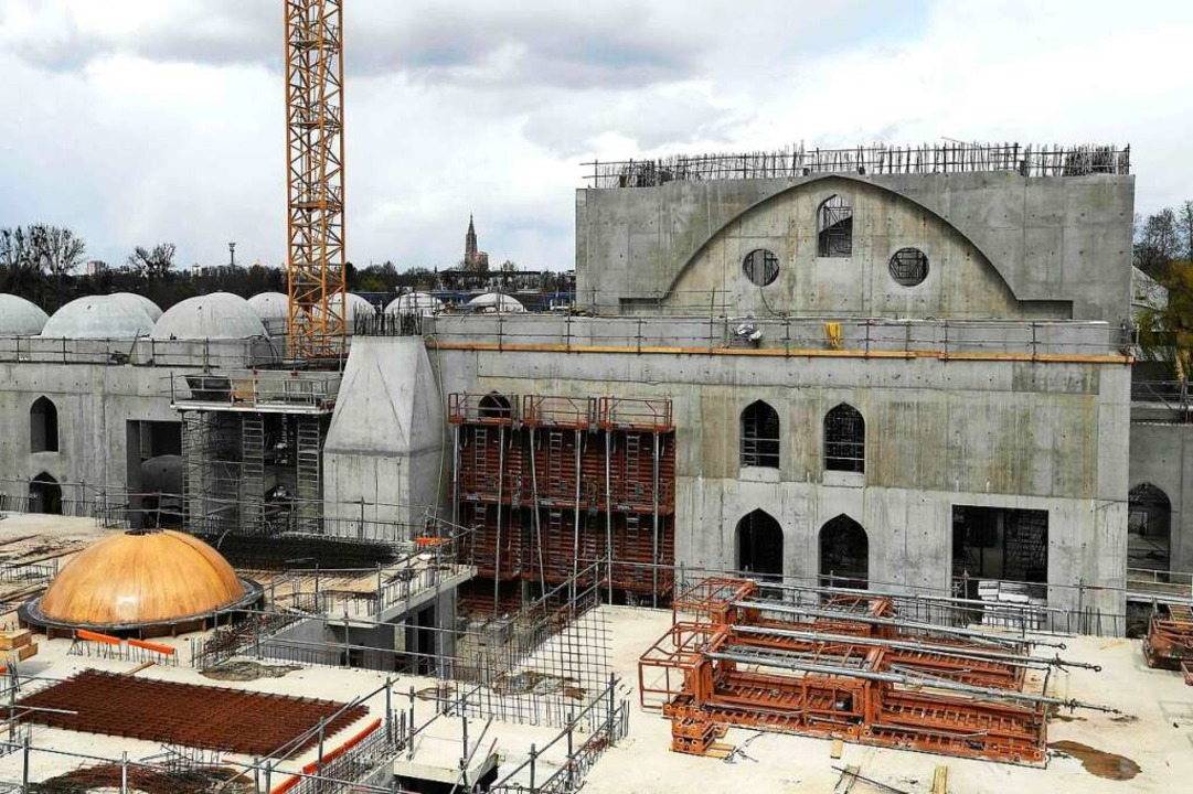 Eyyub-Sultan-Moschee im Süden Straßburg befindet sich im Bau.  | Foto: FREDERICK FLORIN (AFP)