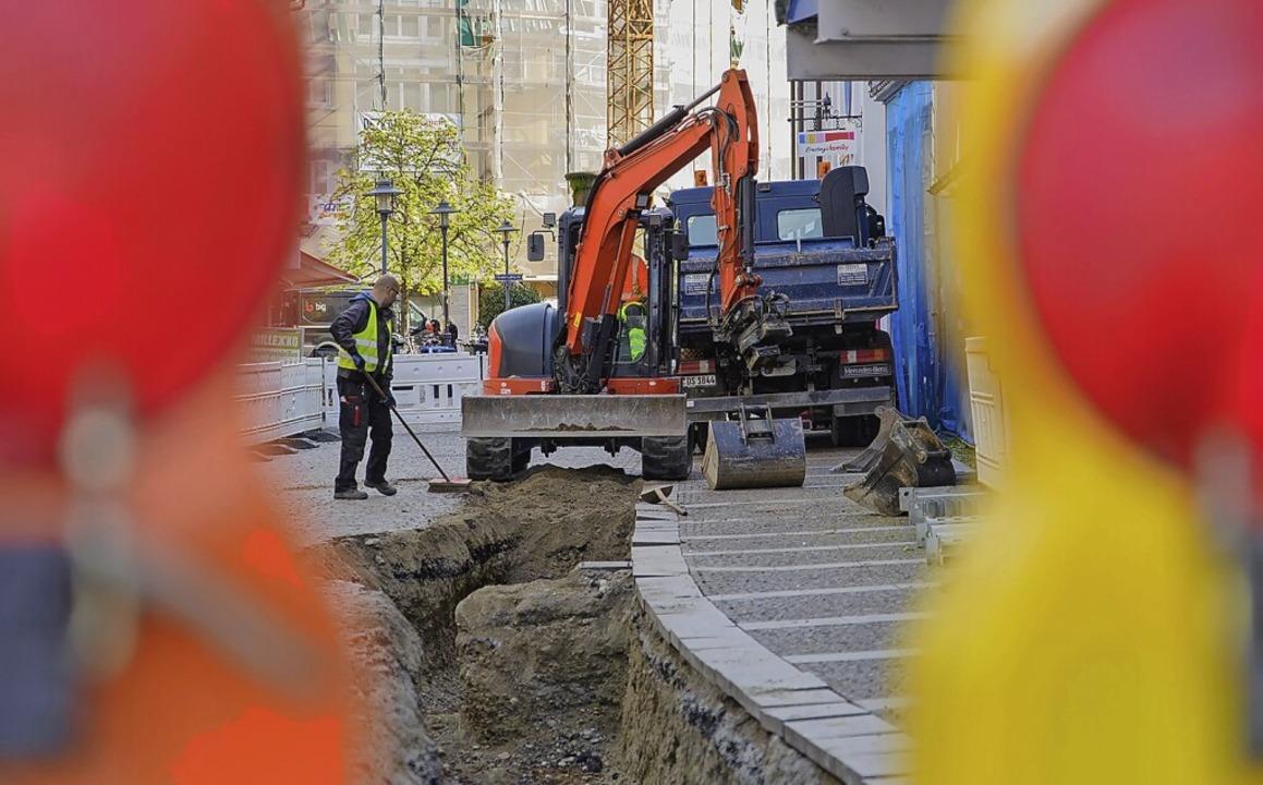 Die Stadtwerke erneuern Versorgungsleitungen in der Theodor-Ludwig-Straße.    Foto: Stadtwerke Emmendingen