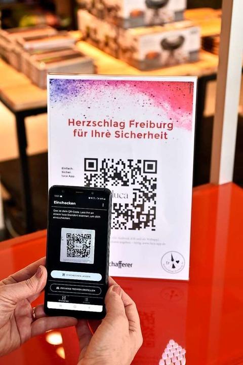 Auch die Händler der Initiative Herzschlag Freiburg nutzen die App  | Foto: Thomas Kunz