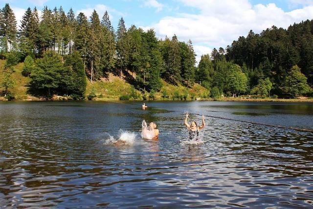Am Nonnenmattweiher gibt's idyllisches Badevergnügen im Natursee