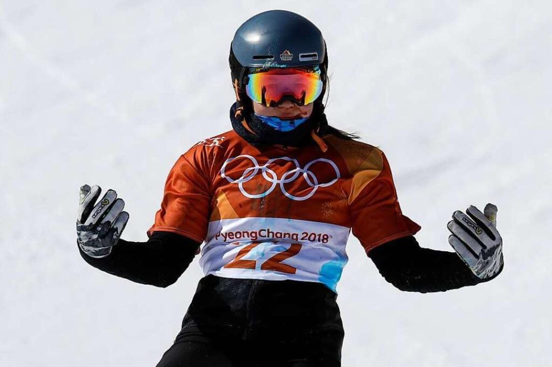 Jana Fischer bei den olympischen Winterspielen 2018 in Pyeongchang  | Foto: Lee Jin-Man
