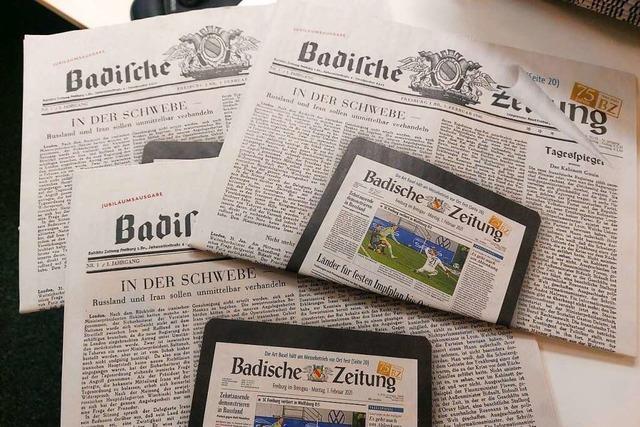 75 Jahre – Die Geschichte der Badischen Zeitung