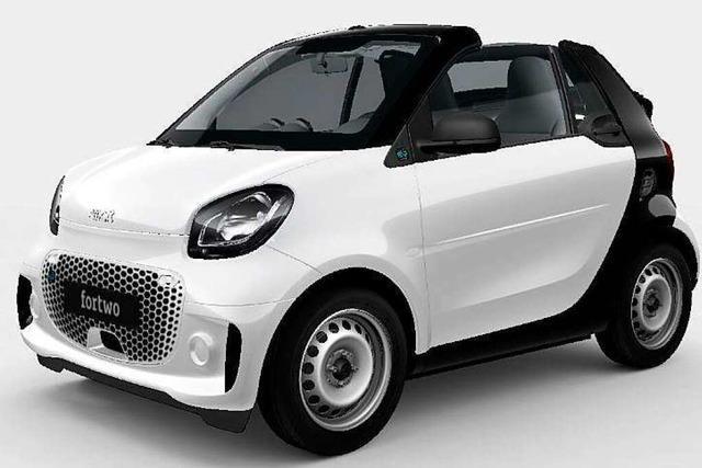 Zu gewinnen: ein Smart Cabrio EQ fortwo und 36 mal 500 Euro