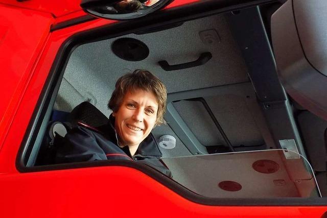 Sonja Eckert ist die erste Feuerwehrkommandantin im Kreis Waldshut