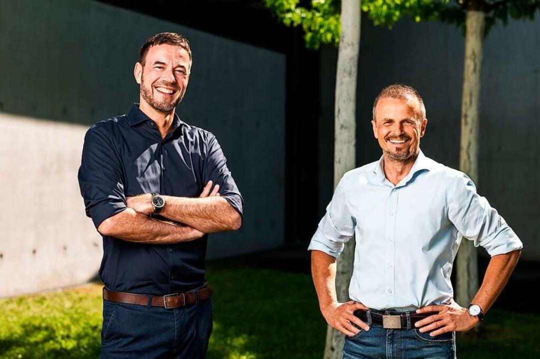 Oliver Arnold (links) und Matthias Hum...a GmbH mit neuen Ideen in die Zukunft.  | Foto: Markus Ruf