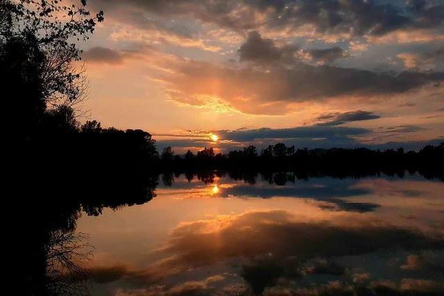 Ein himmlischer Moment am Baggersee in Wyhl