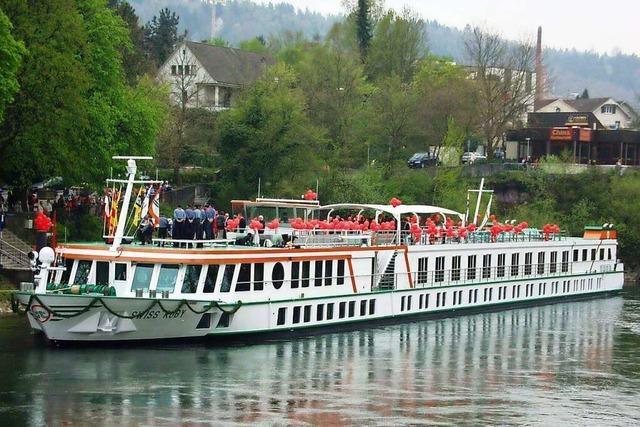 Erstmals hat in Rheinfelden/Schweiz ein Hotelschiff angelegt