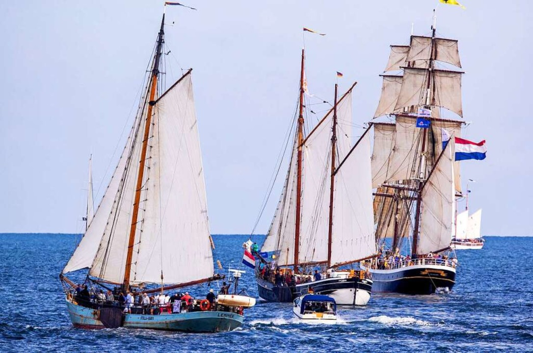 Traditionsreich: die Hanse Sail Rostock  | Foto: Jens Büttner (dpa)