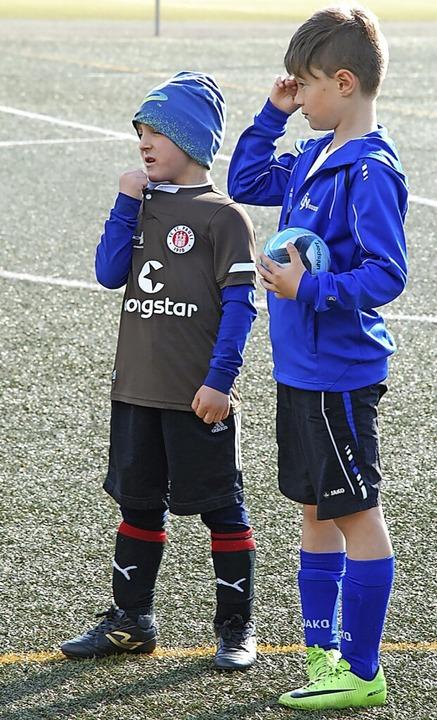 Links der kleine Mützen-Mann, rechts der etwas größere Ackermann namens  Luke  | Foto: Jürgen Ruoff