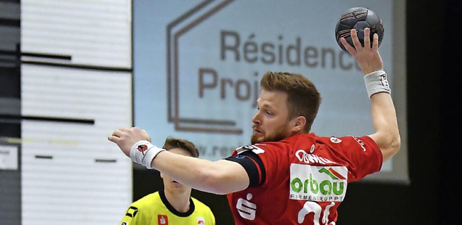 Marius Oßwald konnte lediglich einen Treffer für den TVW beisteuern.  | Foto: Wolfgang Künstle