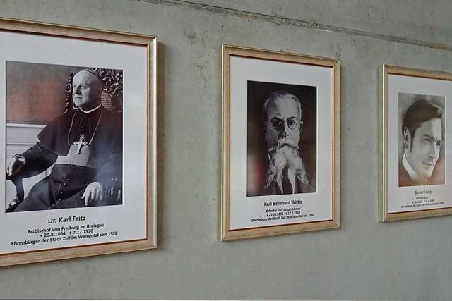Die sechs Zeller Ehrenbürger haben jetzt einen würdigen Platz