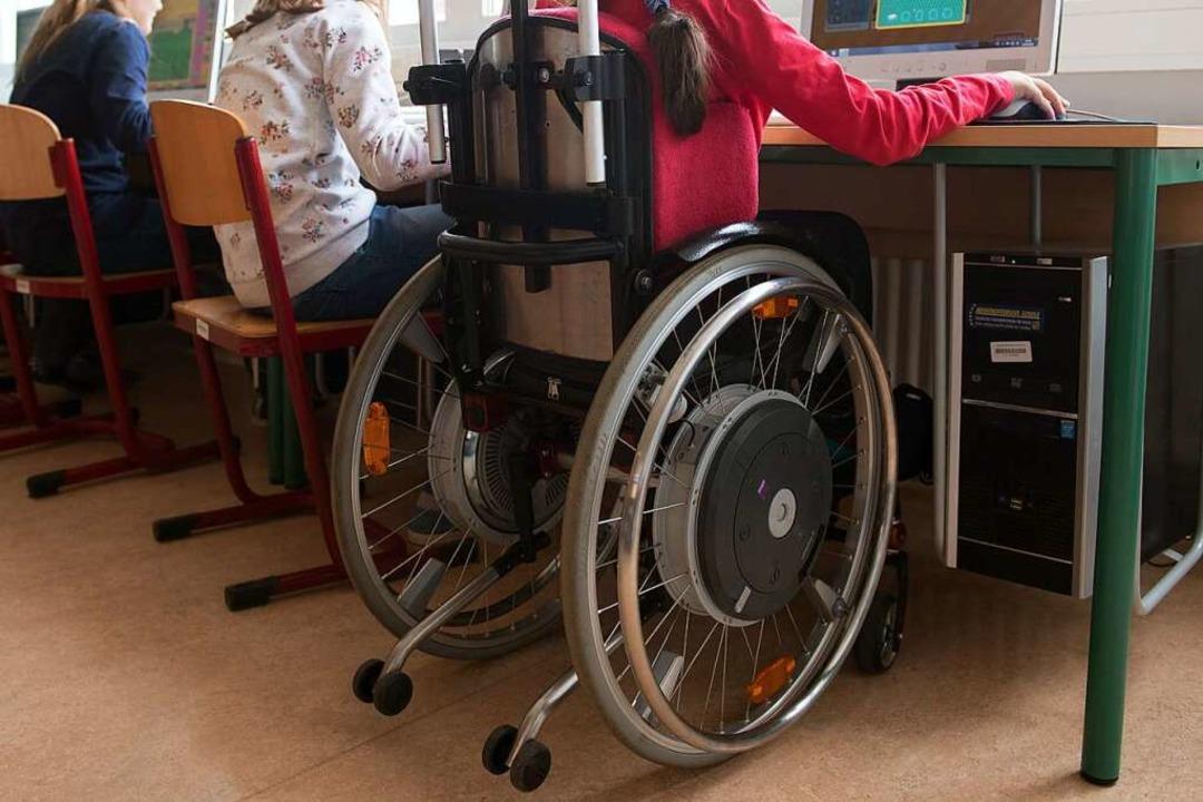 Auch Kinder mit Behinderung sollen ein...ren können – auch in der Schule.    Foto: Sebastian Kahnert