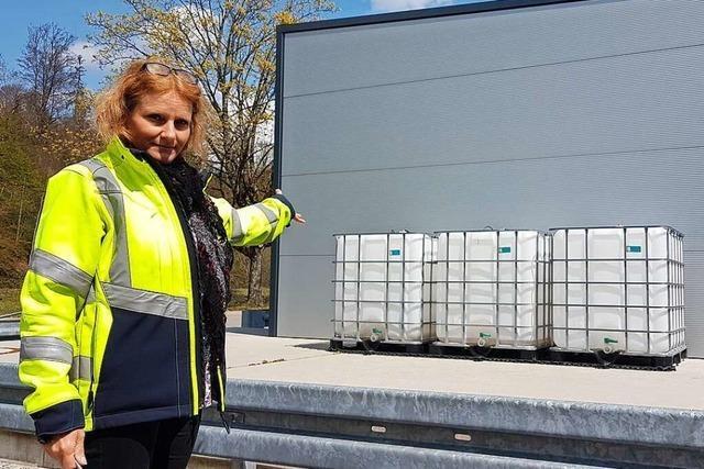 Hier steht die erste innovative Regenwasserbehandlungsanlage im Kreis Lörrach
