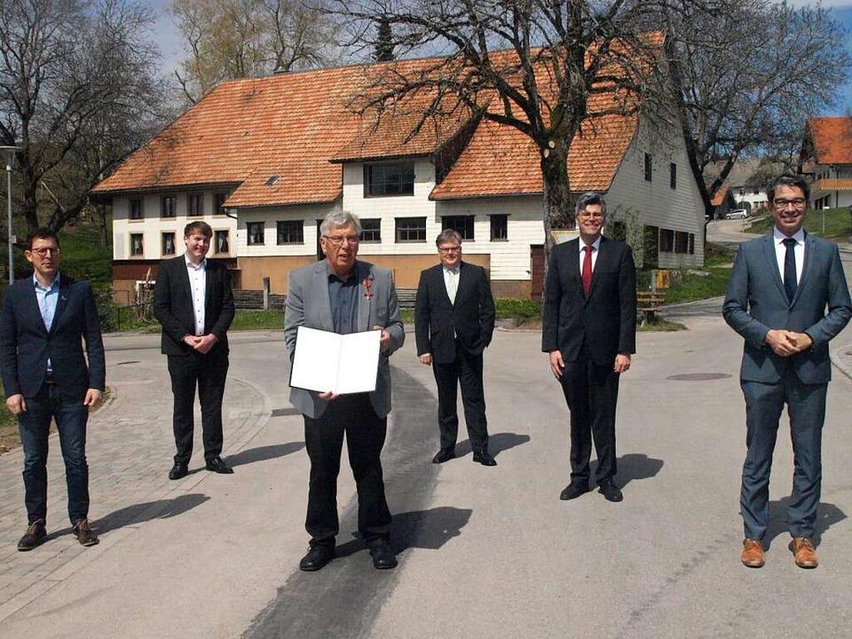 Viel Prominenz kam zur Verleihung des ...tler und Staatssekretär Andre Baumann.  | Foto: Karin Stöckl-Steinebrunner