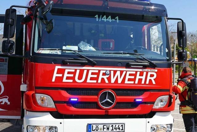 Brennender Gasgrill ruft Feuerwehr auf den Plan