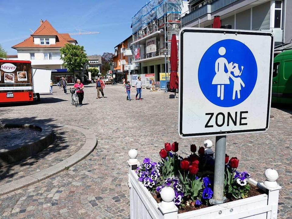 Die Fußgängerzone am Lammplatz dürfte inzwischen unumstritten sein  | Foto: Hans-Peter Müller