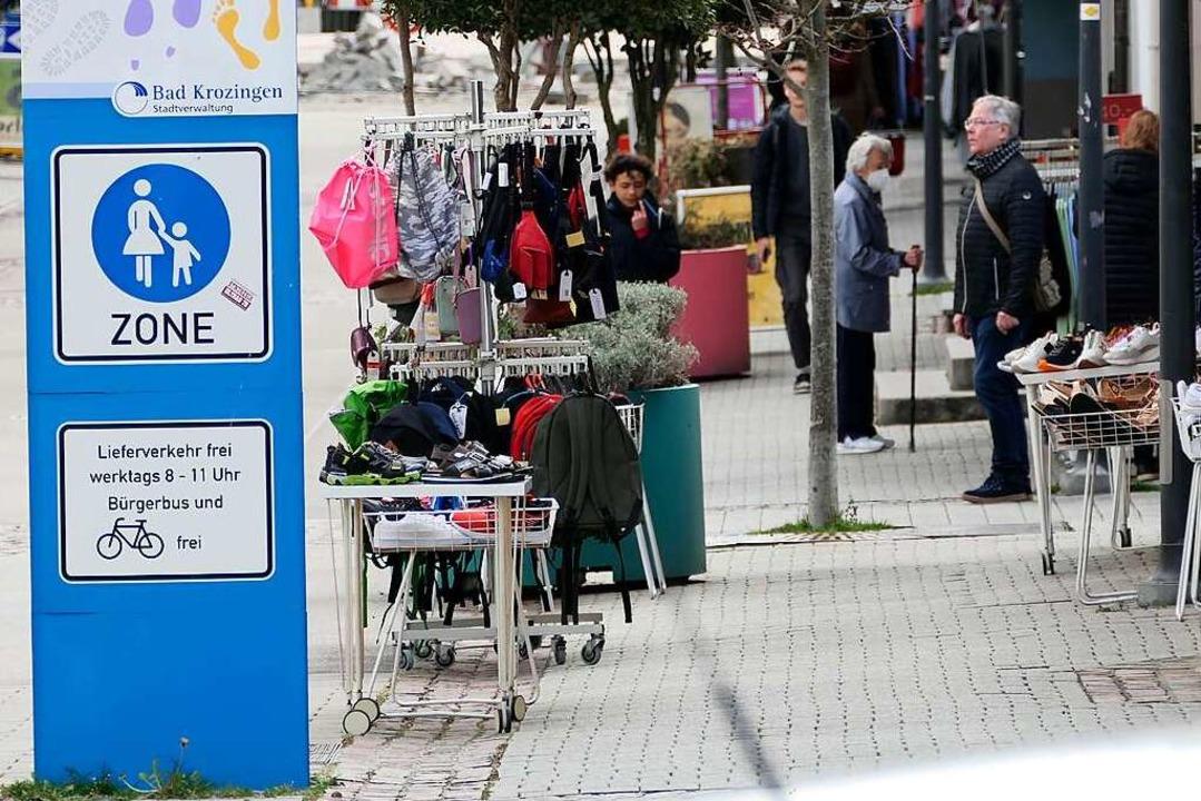 Während CDU und FDP die Fußgängerzone ...lso auf den Prüfstand stellen  wollen.  | Foto: Hans-Peter Müller