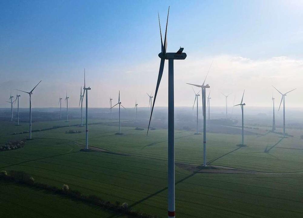 Doch nicht so laut: Windkraftanlagen    Foto: Patrick Pleul
