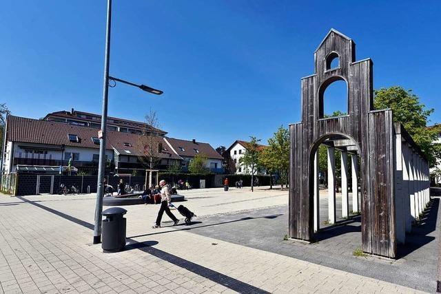 Der Betzenhauser Platz in Freiburg ist jetzt ziemlich luftig