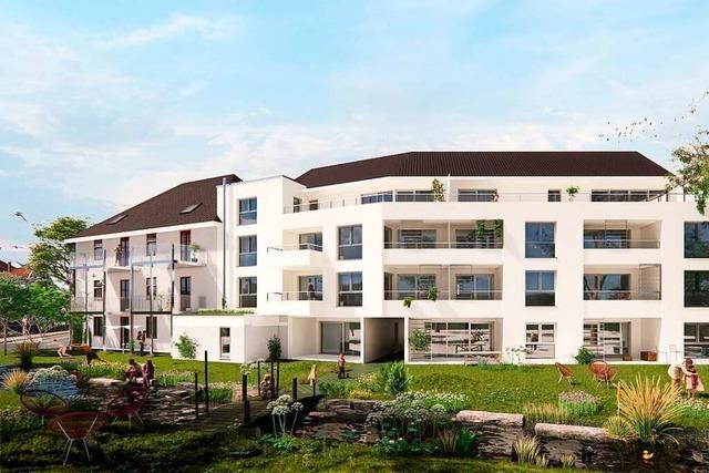 Investor plant zwei Gebäude mit 20 Wohnungen und Gewerbe in Eimeldingen