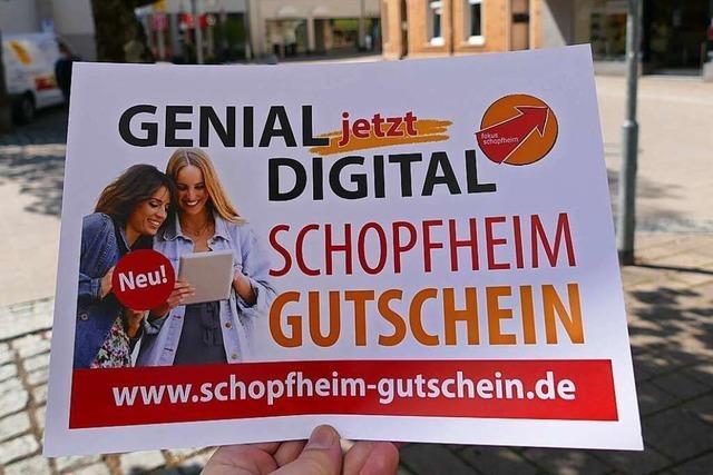 Der Schopfheimer Gewerbeverein bietet digitale Gutscheine an
