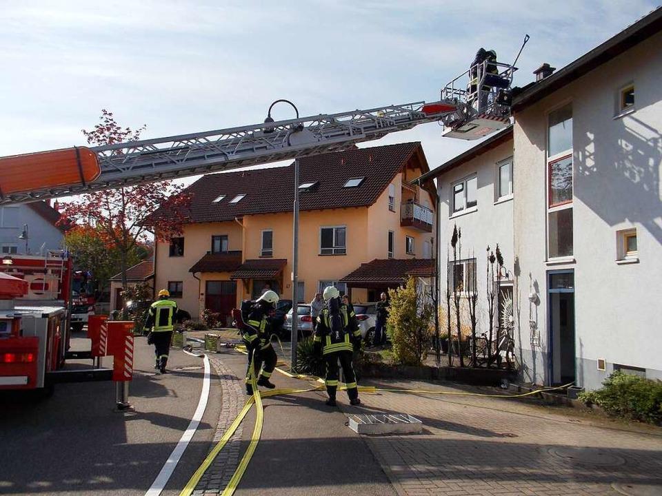 Zu einem großen Einsatz eilte die Feuerwehr Denzlingen am Mittwoch.  | Foto: Feuerwehr Denzlingen/Stephan Konrad