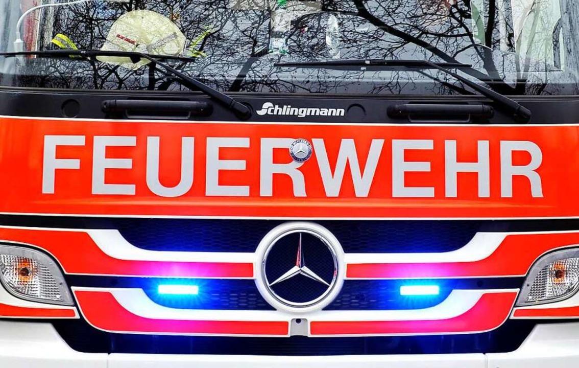 Die Feuerwehr war in Freiburg-Weingarten im Einsatz.  | Foto: Thomas Kunz