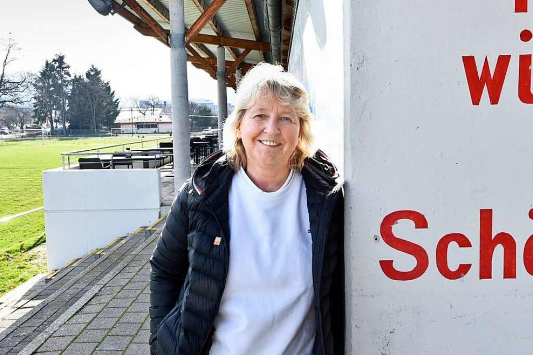 SC-Abteilungsleiterin Birgit Bauer im Schönbergstadion  | Foto: Michael Bamberger