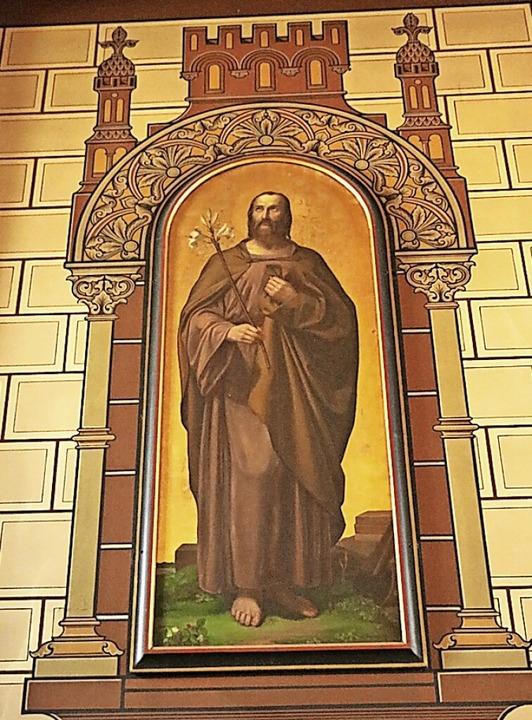 Auch dieses Bild des Heiligen Josef zi...kirche und ist bis heute gut erhalten.  | Foto: Martha Weishaar