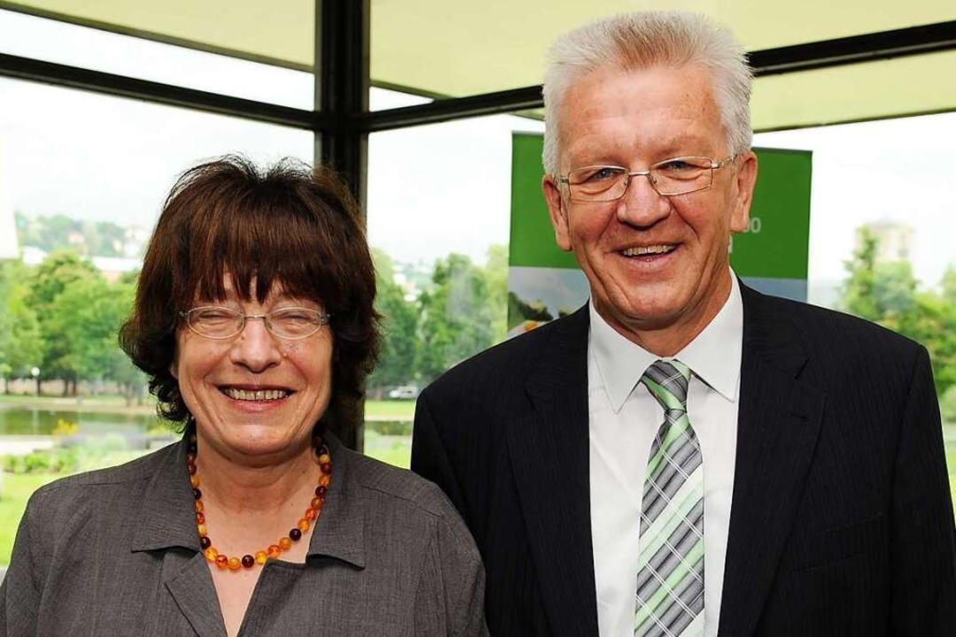 Gisela Erler und Ministerpräsident Winfried Kretschmann 2011    Foto: Bernd Weißbrod