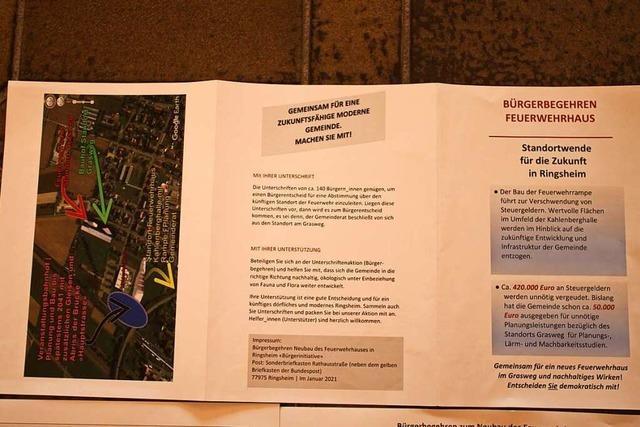 Der Bürgerentscheid in Ringsheim findet offiziell am 27. Juni statt