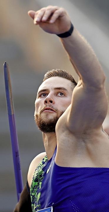 Medaillenkandidat: Der Offenburger Speerwerfer Johannes Vetter  | Foto: ODD ANDERSEN