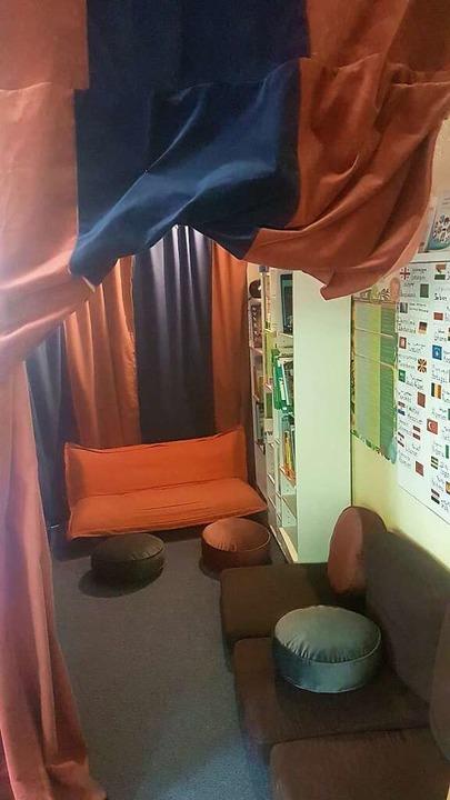 Großes Theater: Die Stoffbahnen für di...Oase stammen aus dem Theater Freiburg.    Foto: privat