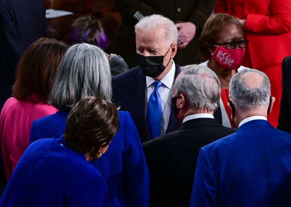 Biden beschwört vor US-Kongress amerikanischen Neuanfang  | Foto: JIM WATSON (AFP)