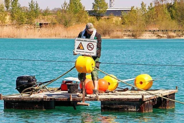 Die Badesaison am Wyhler Baggersee kann kommen