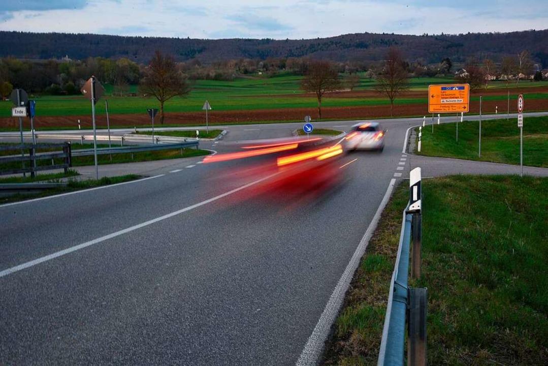 Mit Tempo 100 Richtung Bundesstraße is...Straßenverkehrsbehörde hat  abgelehnt.    Foto: Markus Zimmermann