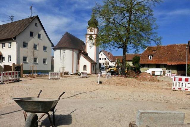 In Offnadingen entsteht ein Dorfplatz nach der Planung der Bürger