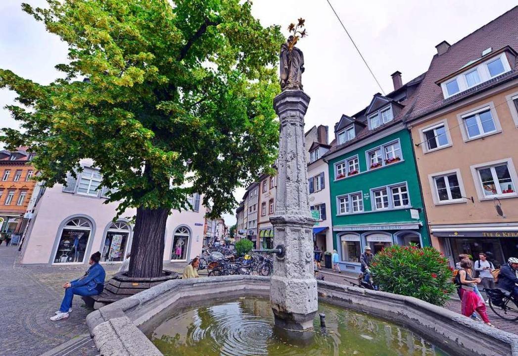 Der Oberlindenbrunnen heute     Foto: Michael Bamberger