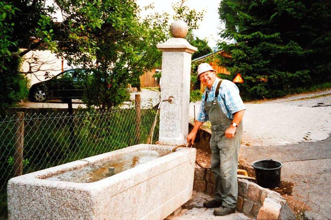 Paul Richter ist auch später dem Thema Brunnen treu geblieben.     Foto: privat
