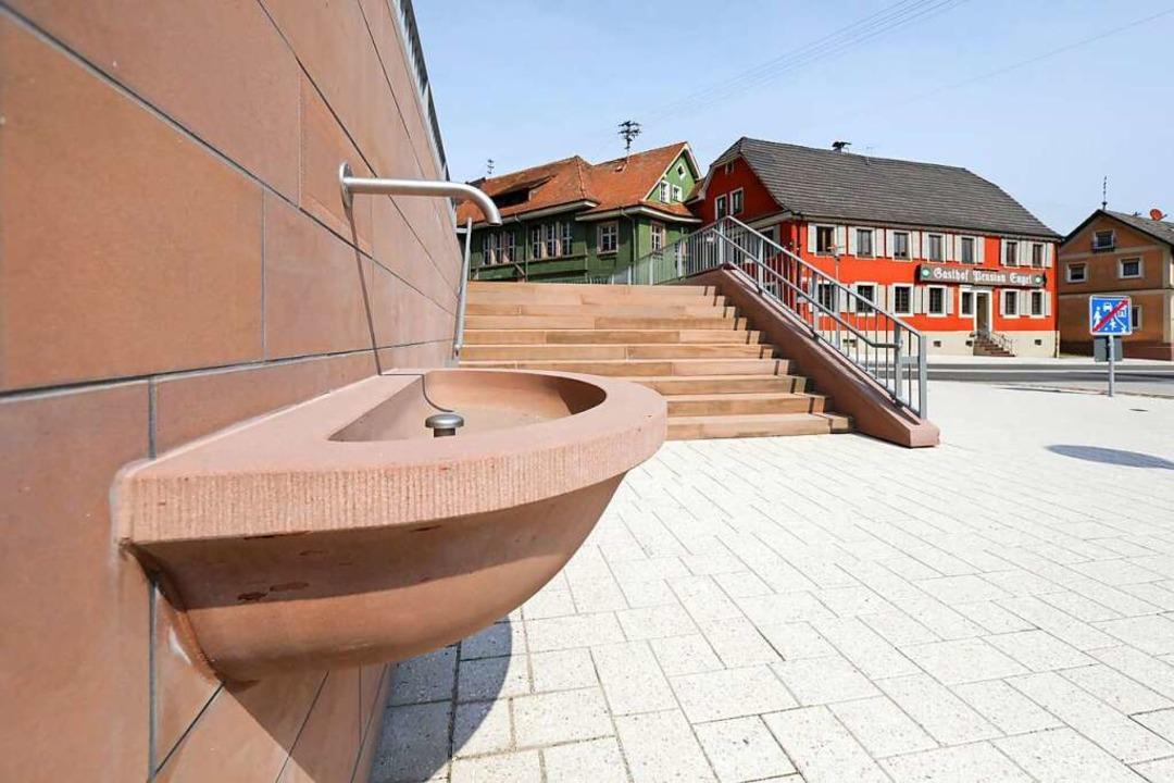 Der Brunnen erhält bald ein Namensschild.    Foto: Christoph Breithaupt