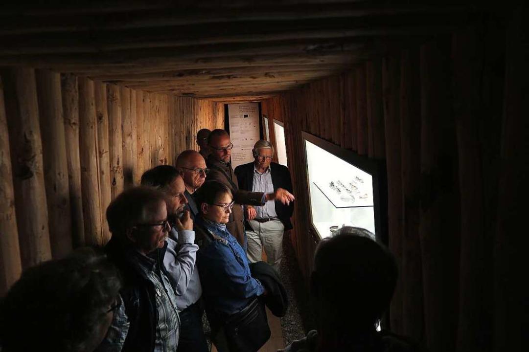 In einer Ausstellung über mittelalterlichen Bergbau in der Region    Foto: Dorothee Philipp