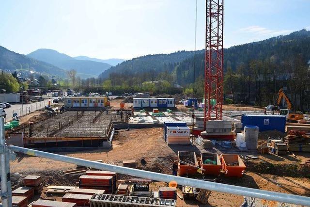 Auf dem Sauter-Areal in Elzach sind die ersten Fundamente fertig