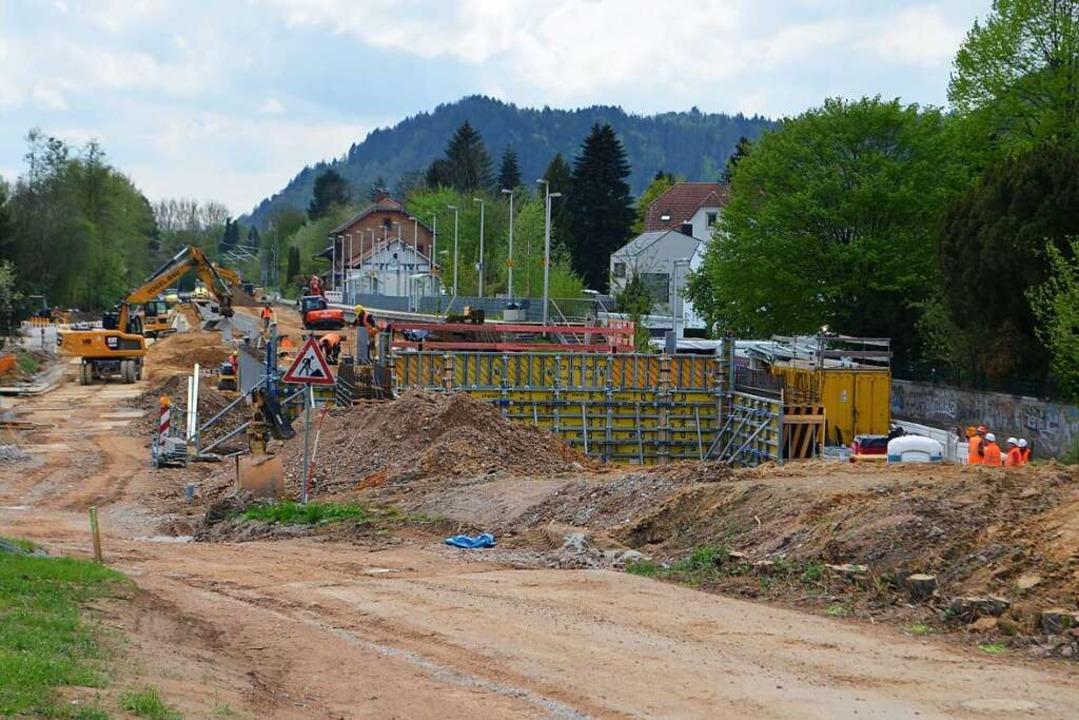 Ende April: Die Baustelle des künftige...ofs Gutach. Hier ist noch viel zu tun.  | Foto: Nikolaus Bayer