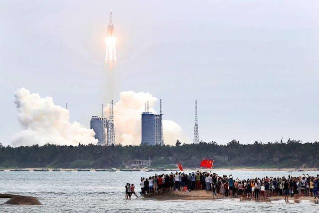 China hat mit dem Bau einer eigenen Raumstation begonnen