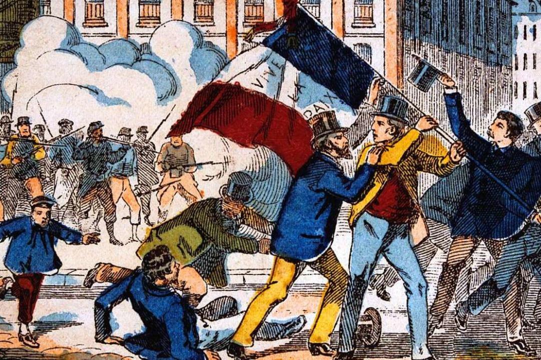 Protest: historische Darstellung der Pariser Commune von 1871  | Foto: www.imago-images.com