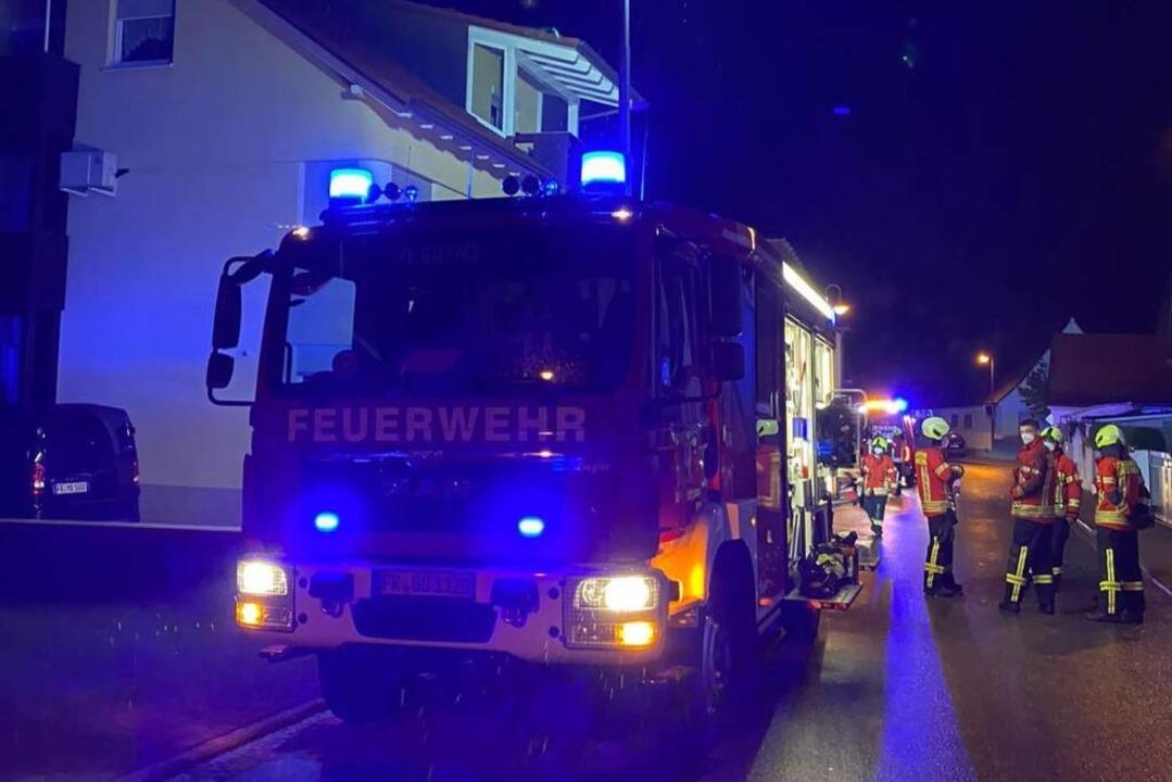 Die Feuerwehren Gottenheim und Bötzingen waren im Einsatz.  | Foto: Feuerwehr Gottenheim